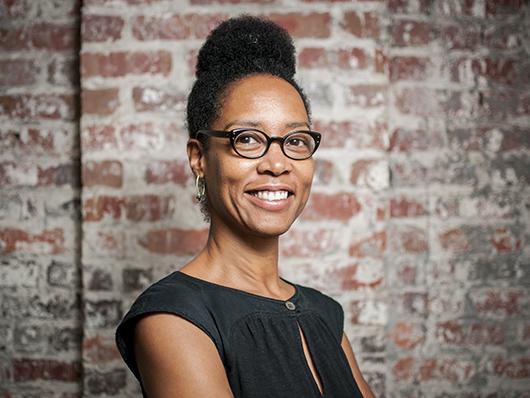 Headshot of artist Sonya Clark (photography by Diego Valdez)