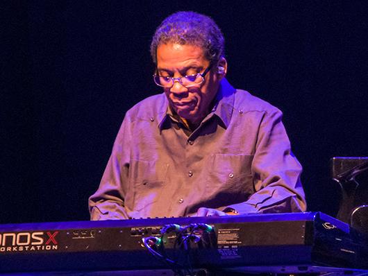 Image of Herbie Hancock at the keyboard
