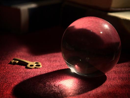 crystal ball with key