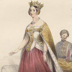 Queen Victoria in costume as fourteenth century Queen Philippa