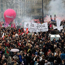 Image of French worker protest