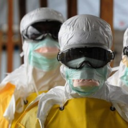 Image of Ebola-fighting medical workers