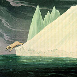 Detail from Icescapes encountered by Captain John Ross, published in a Voyage of Discovery (1819)