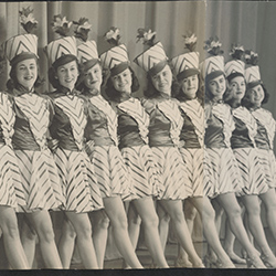 "Kick line from the 1941 Waa-Mu show ""Wait a Minute"""