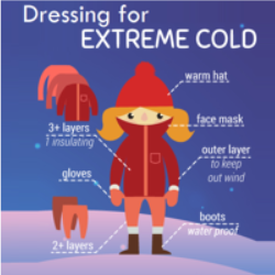 How to dress for extremely cold weather
