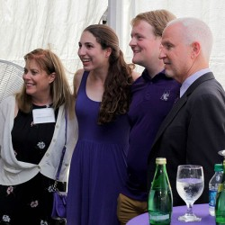 President Schapiro with a Graduating Senior's Family