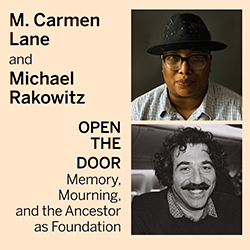 Graphic for talk by artists M. Carmen Lane and Michael Rakowitz
