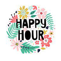 floral Happy Hour graphic